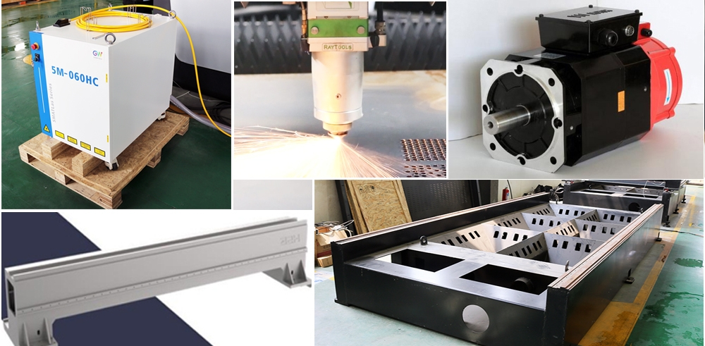 The core components of the laser cutting machine